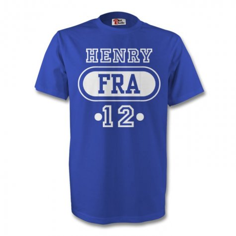 Thierry Henry France Fra T-shirt (blue)