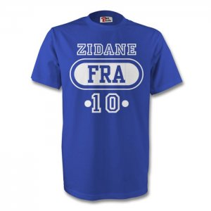 Zinedine Zidane France Fra T-shirt (blue) - Kids