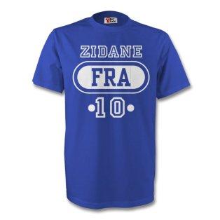 Zinedine Zidane France Fra T-shirt (blue) - Kids