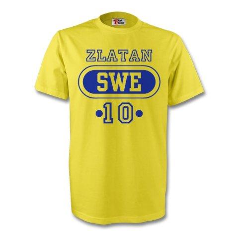 Zlatan Ibrahimovic Sweden Swe T-shirt (yellow) - Kids