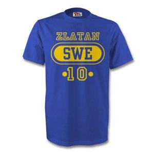 Zlatan Ibrahimovic Sweden Swe T-shirt (blue)