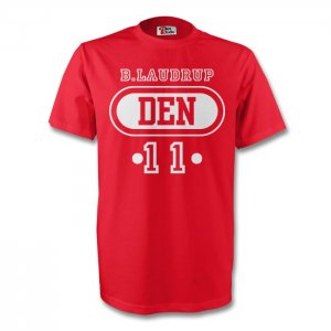 Brian Laudrup Denmark Den T-shirt (red)