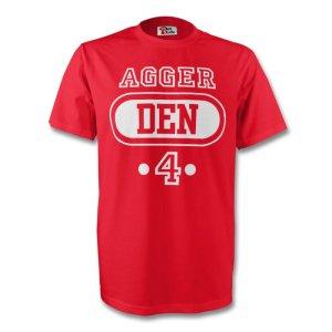 Dan Agger Denmark Den T-shirt (red) - Kids