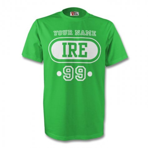 Ireland Ire T-shirt (green) + Your Name