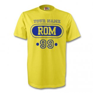 Romania Rom T-shirt (yellow) + Your Name