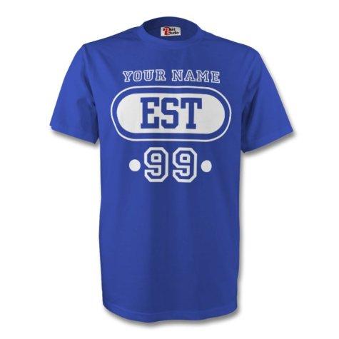 Estonia Est T-shirt (blue) + Your Name