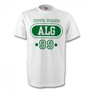 Algeria Alg T-shirt (white) + Your Name (kids)