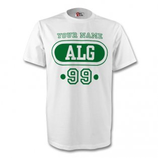 Algeria Alg T-shirt (white) + Your Name