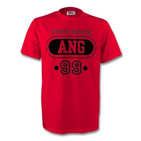 Angola Hun T-shirt (red) + Your Name (kids)