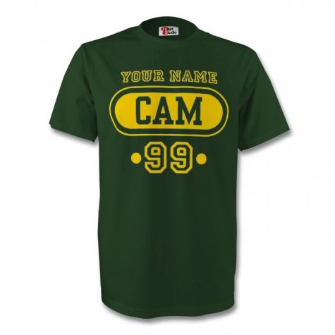 Cameroon Cam T-shirt (dark Green) + Your Name