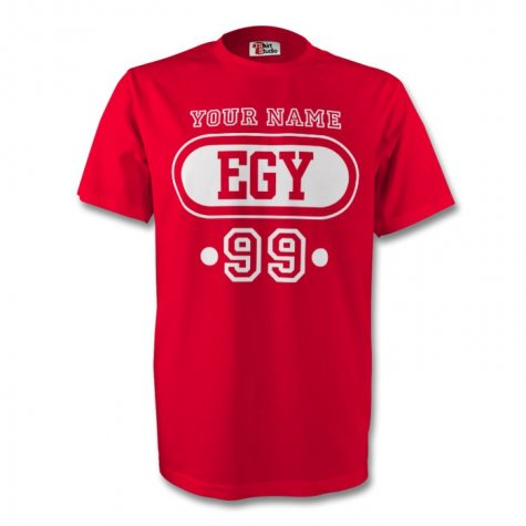 Egypt Egy T-shirt (red) + Your Name