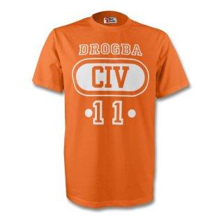 Didier Drogba Ivory Coast Civ T-shirt (orange) - Kids