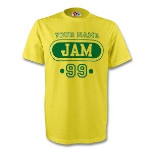 Jamaica Jam T-shirt (yellow) + Your Name