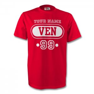 Venezuela Ven T-shirt (red) + Your Name (kids)