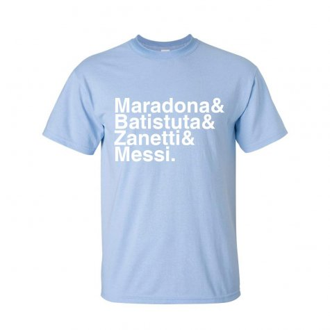 Argentina Football Legends T-shirt (sky Blue)