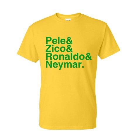 Brazil Football Legends T-shirt (yellow)