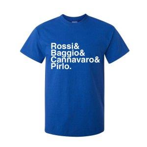 Italy Football Legends T-shirt (blue)