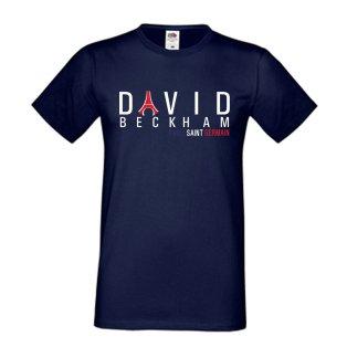 David Beckham PSG Eiffel Tower T-shirt (navy)