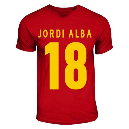 Jordi Alba Spain Hero T-shirt (red)