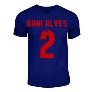 Dani Alves Barcelona Hero T-shirt (navy)