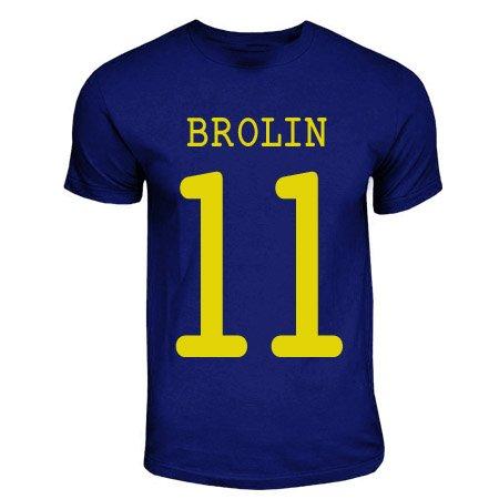 Tomas Brolin Sweden Hero T-shirt (navy)