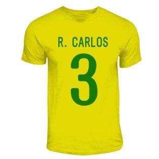 Roberto Carlos Brazil Hero T-shirt (yellow)
