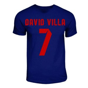David Villa Barcelona Hero T-shirt (navy)