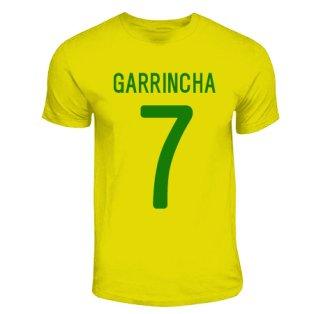 Garrincha Brazil Hero T-shirt (yellow)