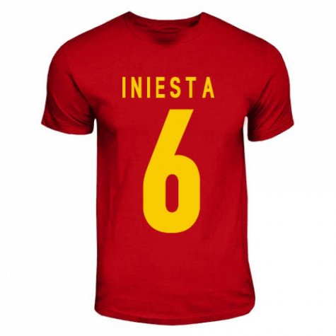 Iniesta Spain Hero T-shirt (red)