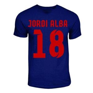 Jordi Alba Barcelona Hero T-shirt (navy)