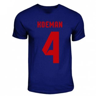Ronald Koeman Barcelona Hero T-shirt (navy)