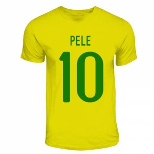 Pele Brazil Hero T-shirt (yellow)