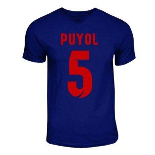Carlos Puyol Barcelona Hero T-shirt (navy)