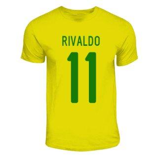 Rivaldo Brazil Hero T-shirt (yellow)