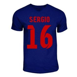 Sergio Busquets Barcelona Hero T-shirt (navy)