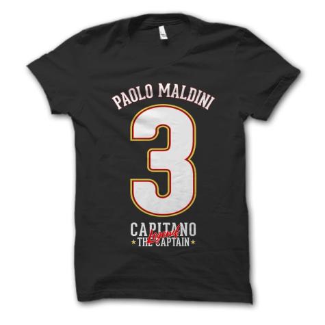Paolo Maldini Capitano T-Shirt (Black)