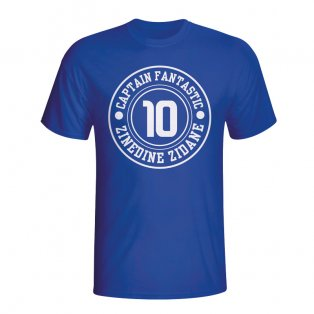 Zinedine Zidane France Captain Fantastic T-shirt (blue)