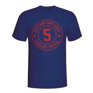 Carlos Puyol Barcelona Captain Fantastic T-shirt (navy)