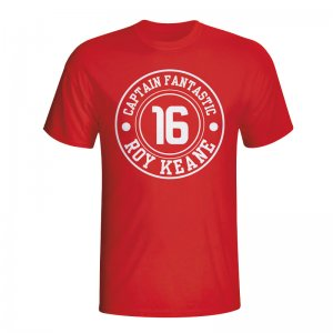 Roy Keane Man Utd Captain Fantastic T-shirt (red) - Kids