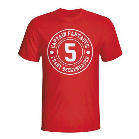 Franz Beckenbauer Bayern Munich Captain Fantastic T-shirt (red) - Kids