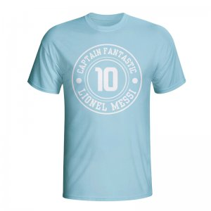Lionel Messi Argentina Captain Fantastic T-shirt (sky Blue) - Kids