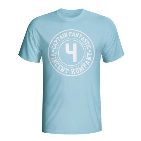 Vincent Kompany Man City Captain Fantastic T-shirt (sky Blue) - Kids