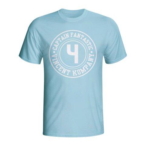Vincent Kompany Man City Captain Fantastic T-shirt (sky Blue)