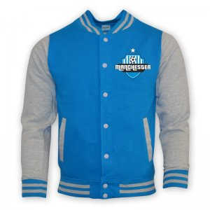 Man City College Baseball Jacket (sky Blue) - Kids