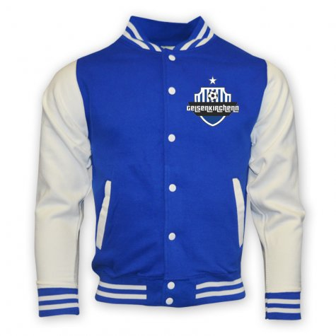 Schalke College Baseball Jacket (blue) - Kids