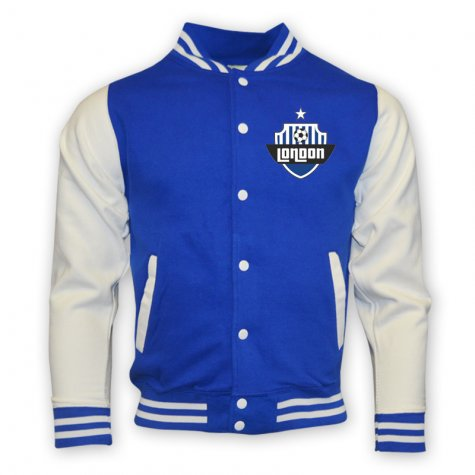 Chelsea College Baseball Jacket (blue)