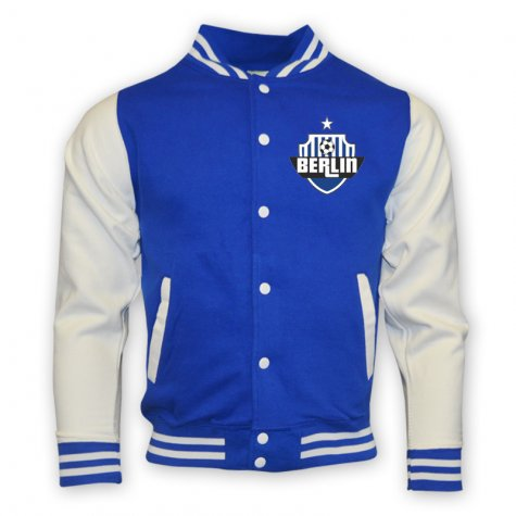 Hertha Berlin College Baseball Jacket (blue)