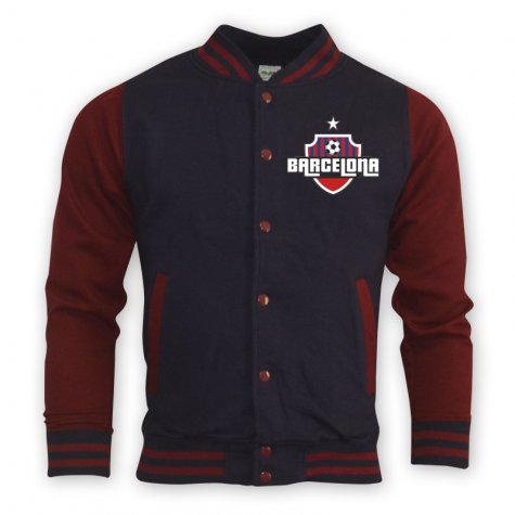 Barcelona College Baseball Jacket (navy) - Kids