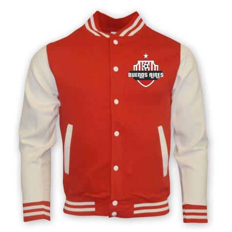 River Plate College Baseball Jacket (red) - Kids [BASEBALLREDKIDS ...