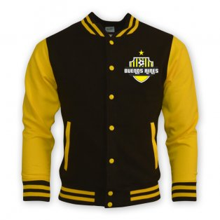 Buenos Aires College Baseball Jacket (yellow) - Kids